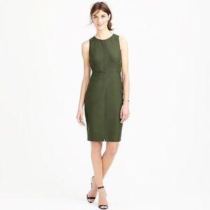 J. CREW Ladder Stitch Dress Olive Green {DD15}